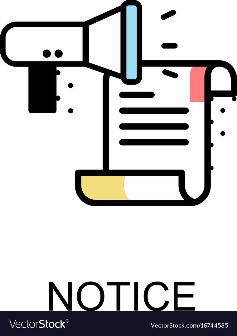 Notice graphic icon vector image