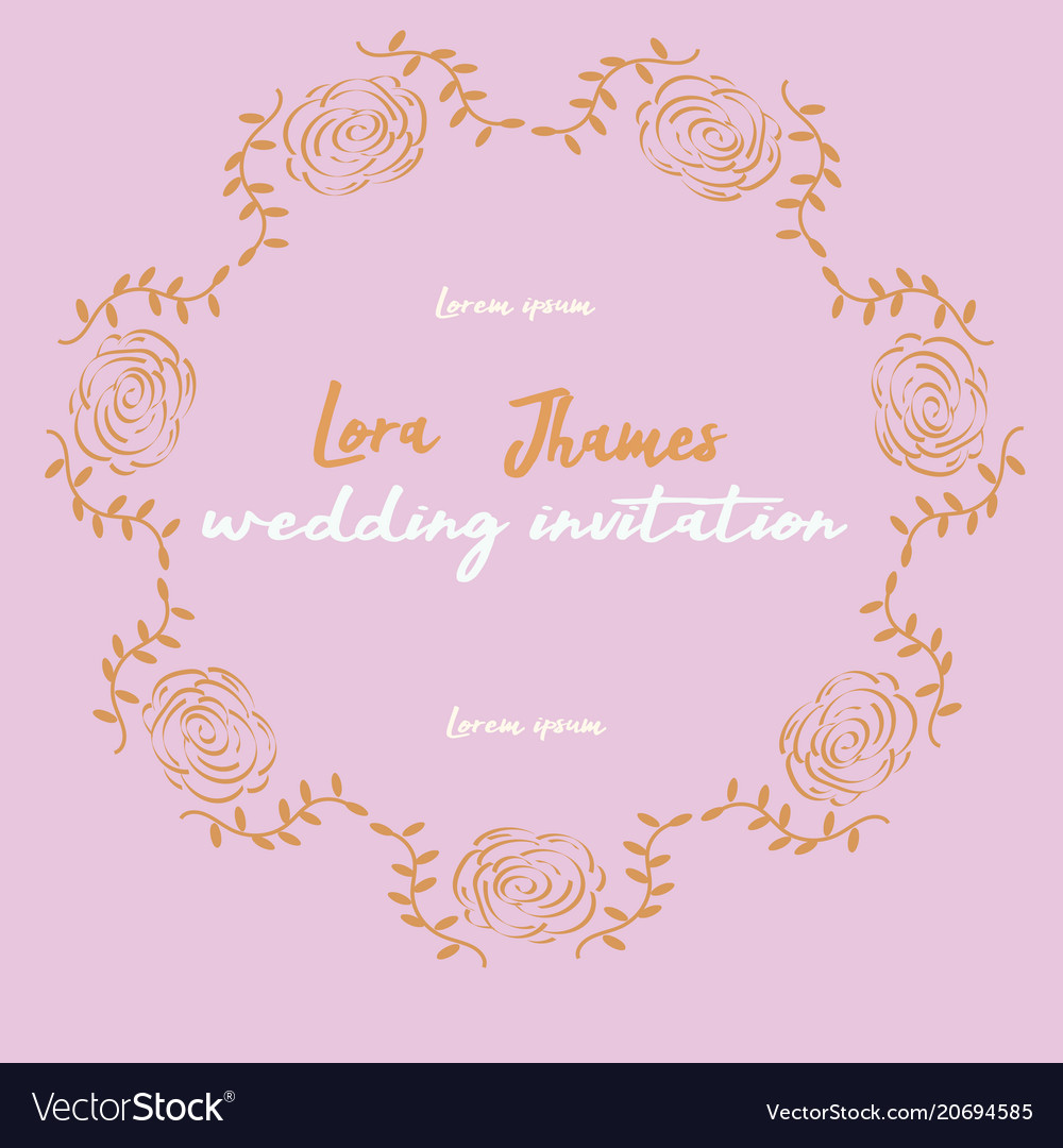 Save date wedding invitation card template