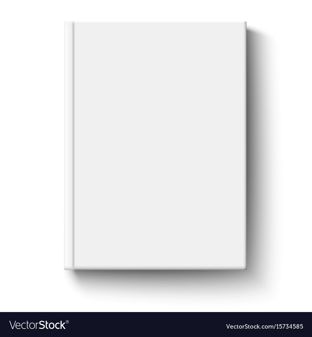 White book cover isolated vector image