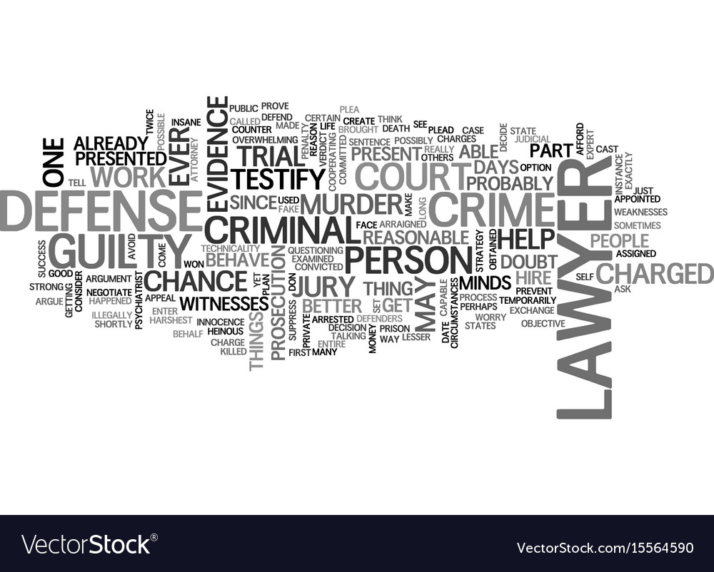 A criminal defense lawyer can help you defend vector image