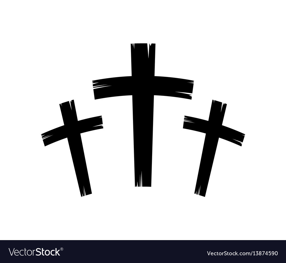 Christian crosses icon vector image