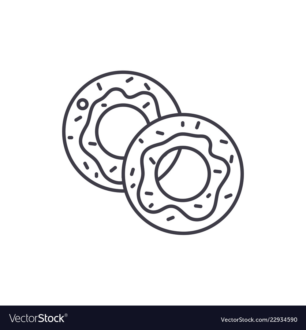 Donuts line icon concept donuts linear
