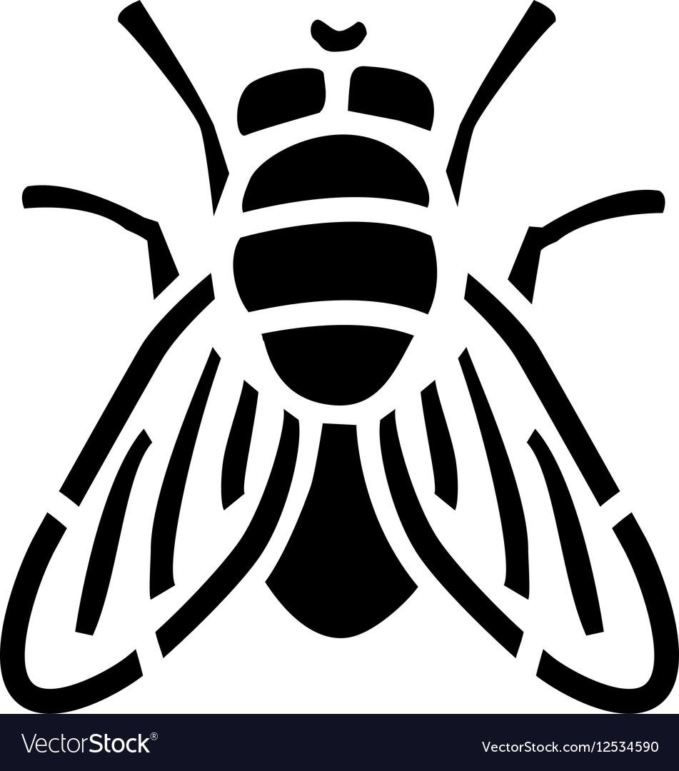 Fly stencil icon
