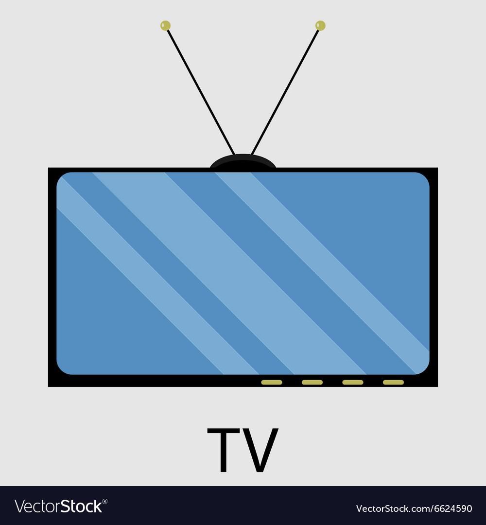 Tv icon flat design