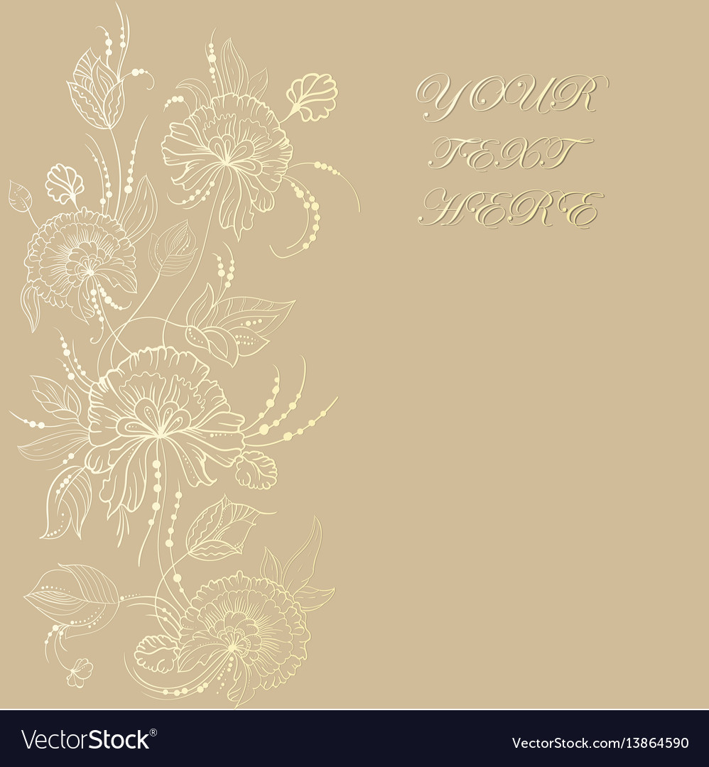 Vintage card with flowers on background book vector image