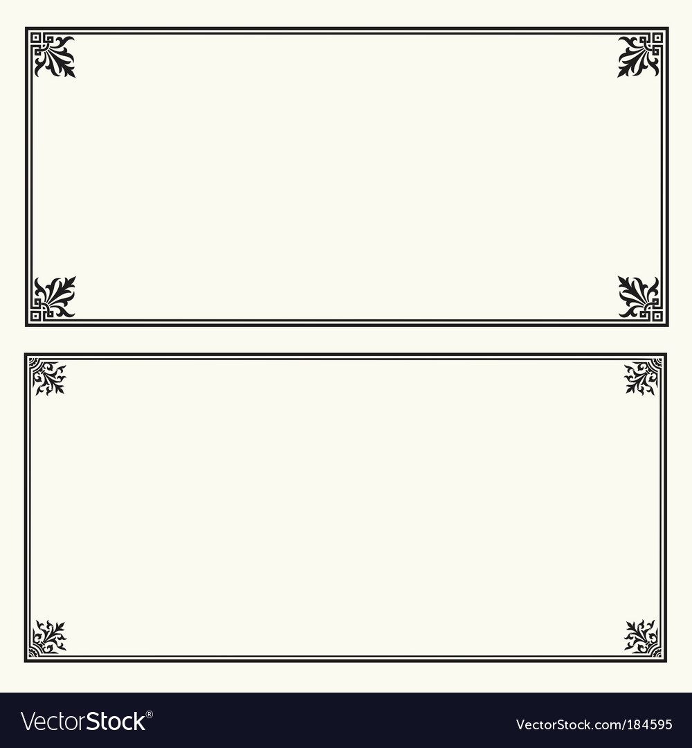 Certificate frame square Royalty Free Vector Image