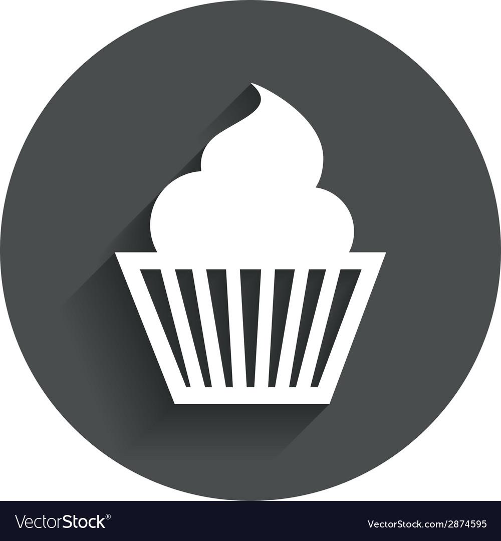 Muffin Sign Icon Cupcake Symbol Vector Image On Vectorstock
