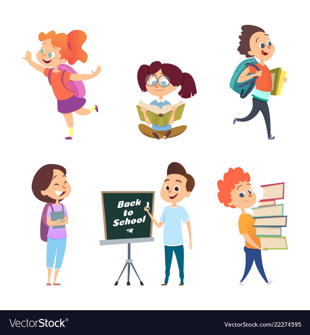 School children back to characters