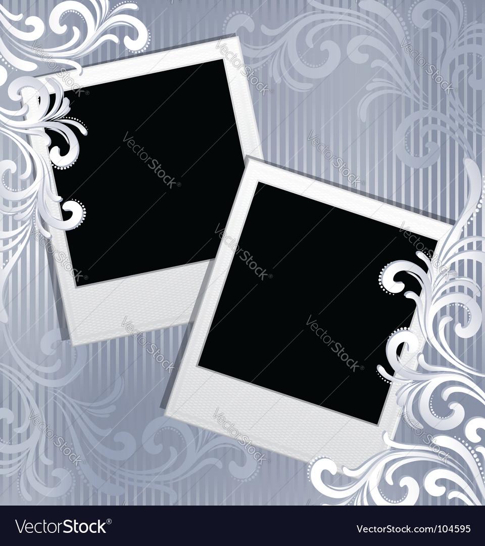Scrapbook template vector image