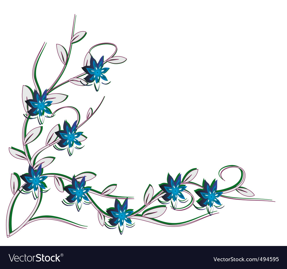 White background with blue flowers royalty free vector image white background with blue flowers vector image mightylinksfo Image collections