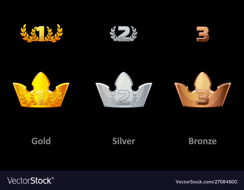 Awards crown icons collection