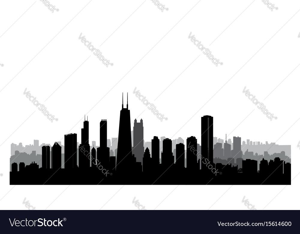 Chicago city buildings silhouette usa urban