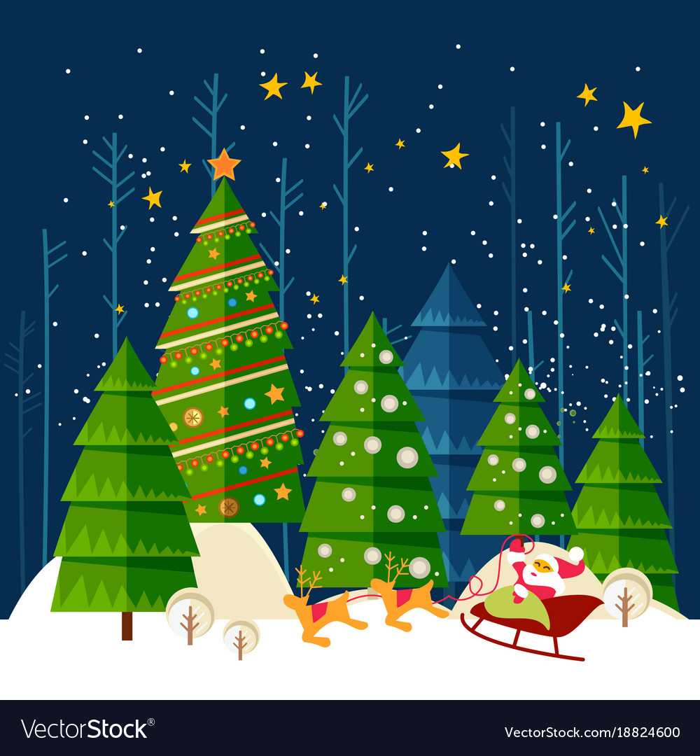 Christmas and new year card christmas banner vector image m4hsunfo