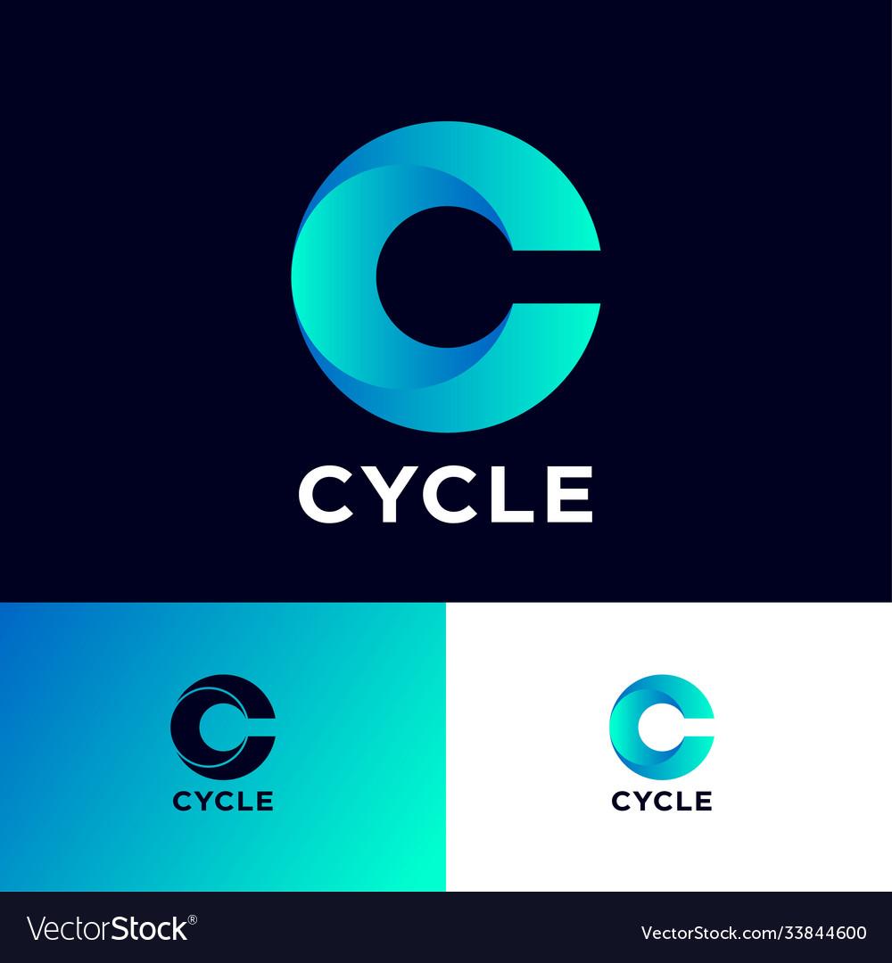 Cycle logo c monogram