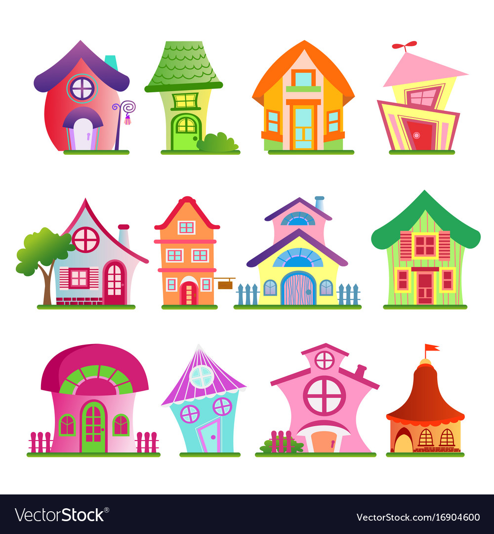 Funny country buildings set