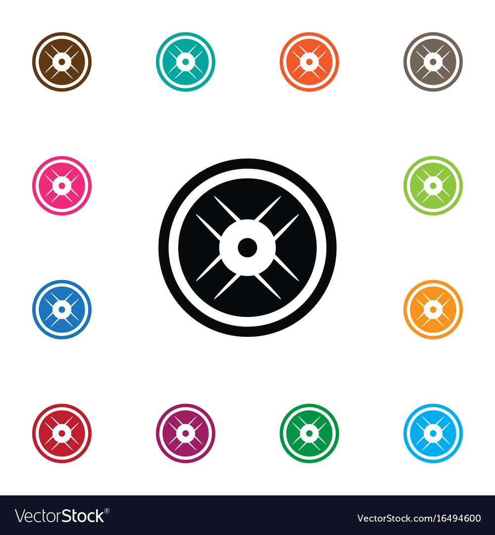 Isolated wheel icon lbs element can be