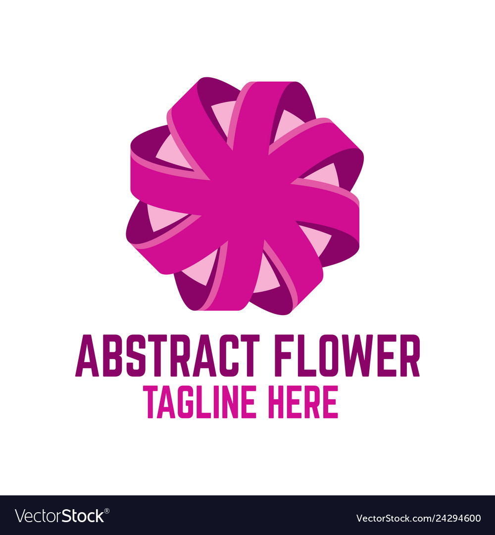Modern abstract flower logo