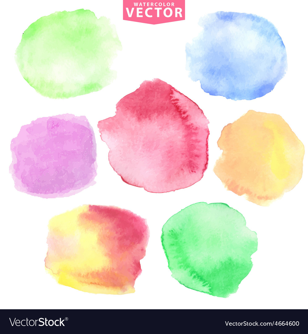 Watercolor stainsSoftcute colors