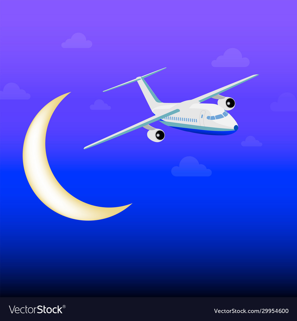 White passenger plane flying among clouds in