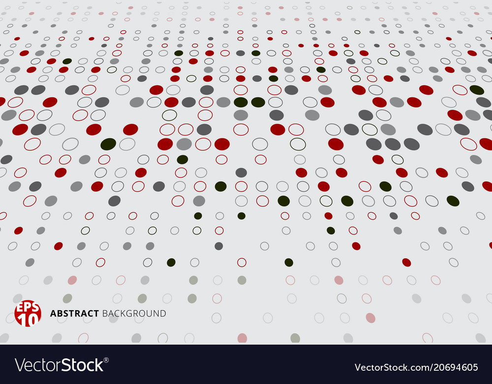 Abstract halftone pattern dots red black and gray