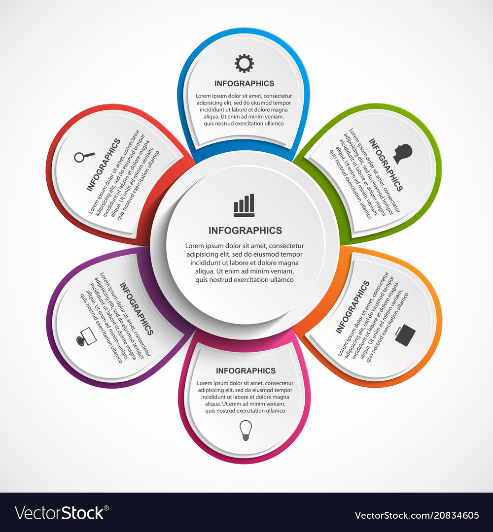 Abstract options infographics template with