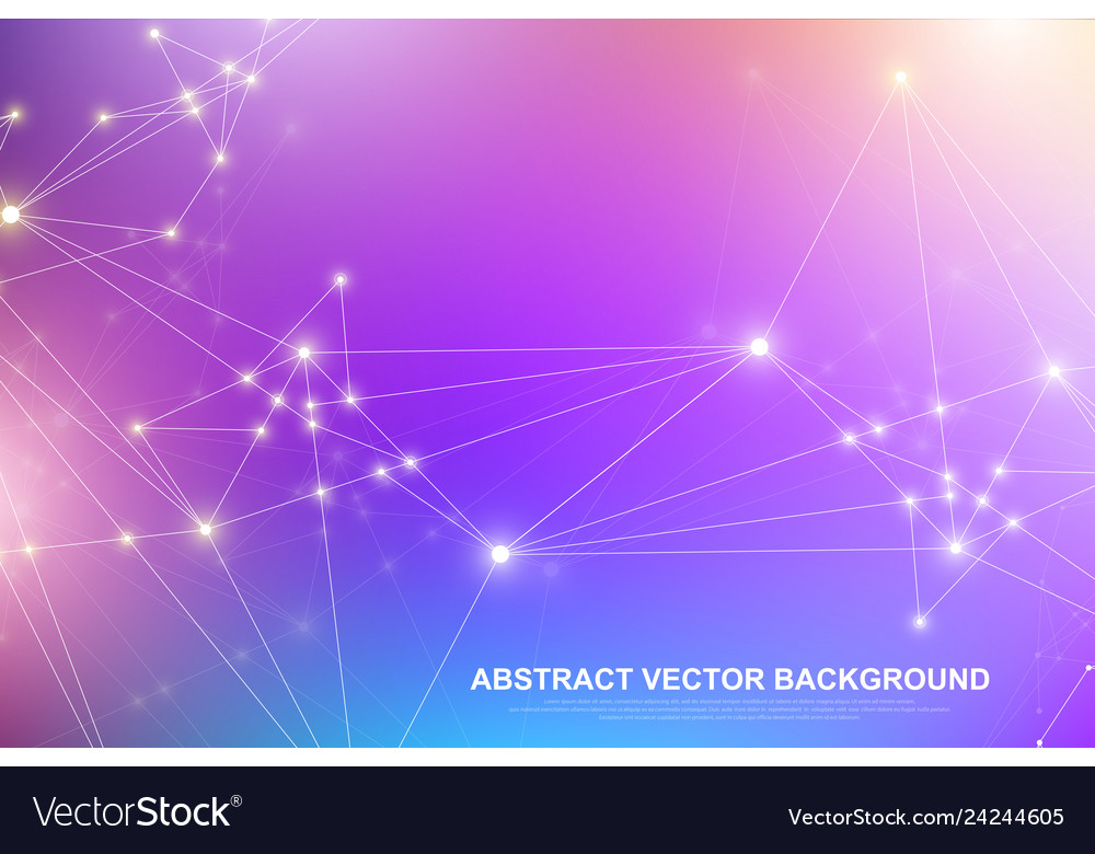 Abstract plexus background with connected lines