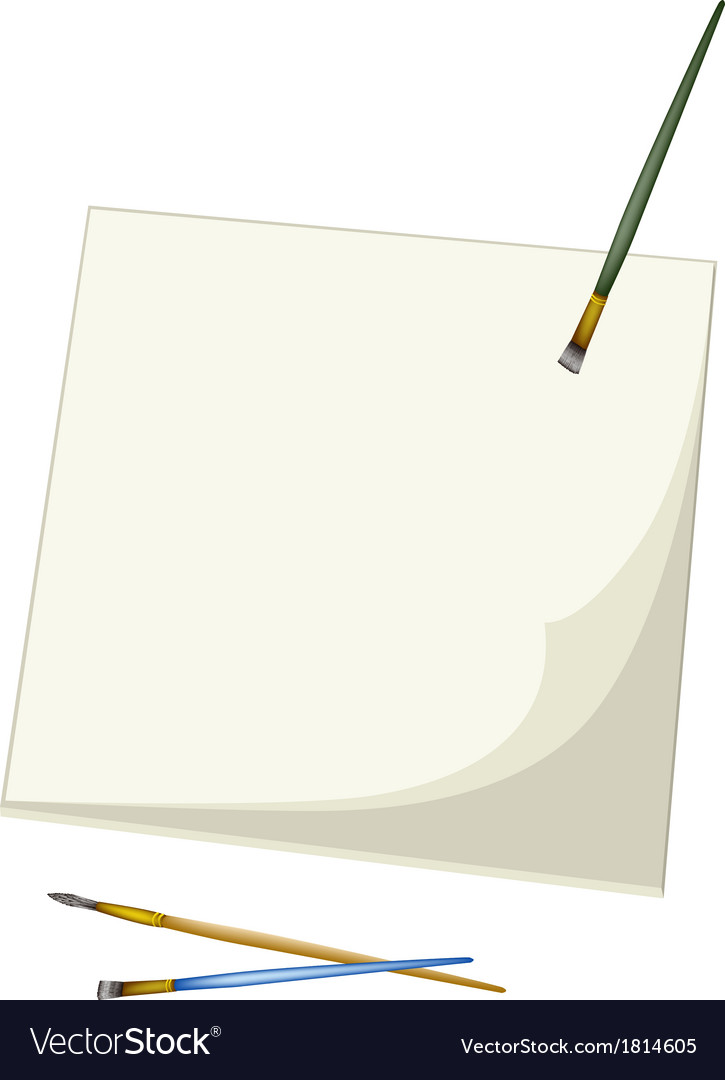 Artist Brushes Lying on A Blank Sketchbook