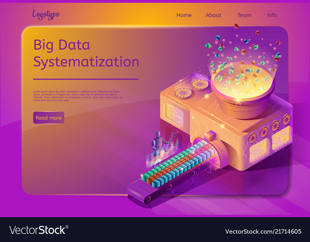 Big data systematization service web page template