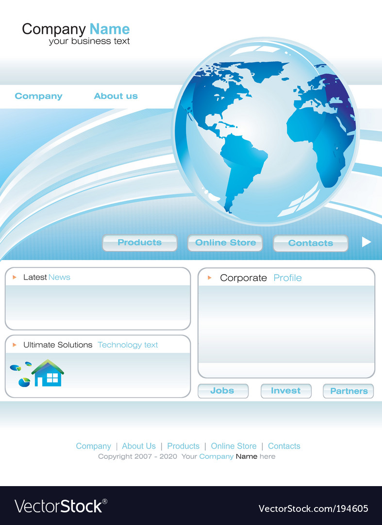Business web site template