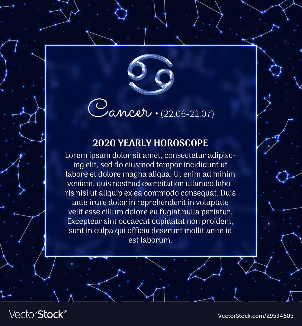 Cancer Astrology Horoscope Prediction Banner Vector Image