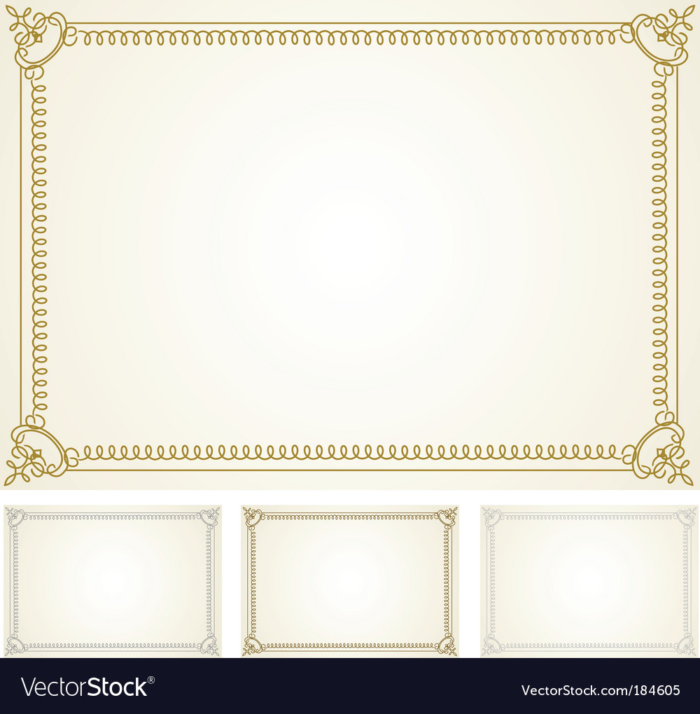 Certificate Frame Set Royalty Free Vector Image