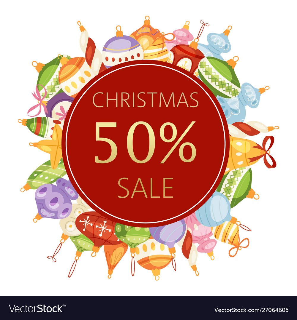 Christmas balls sale 50 discount