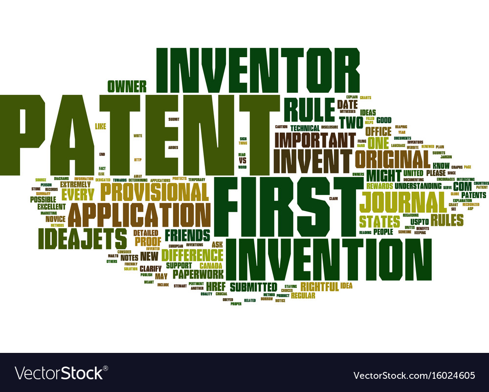 First to invent vs first to patent text
