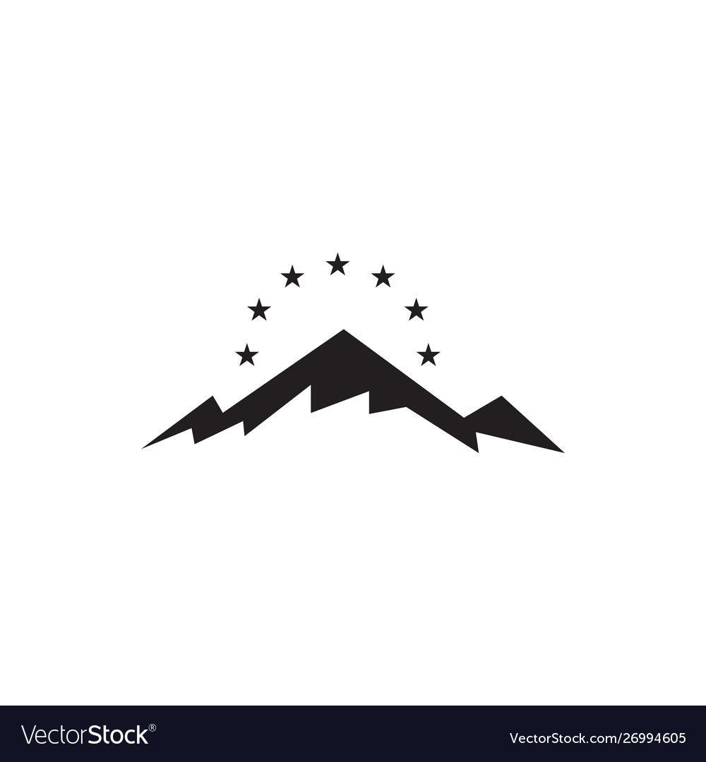 Mountain graphic design template isolated