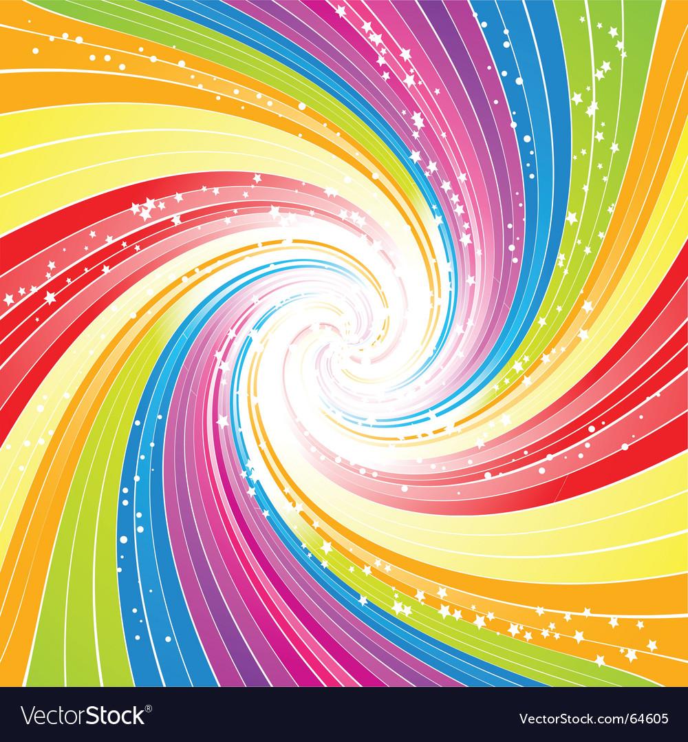 rainbow swirl background royalty free vector image