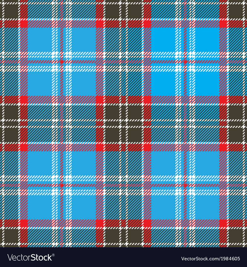 Seamless Blue Tartan Pattern Design