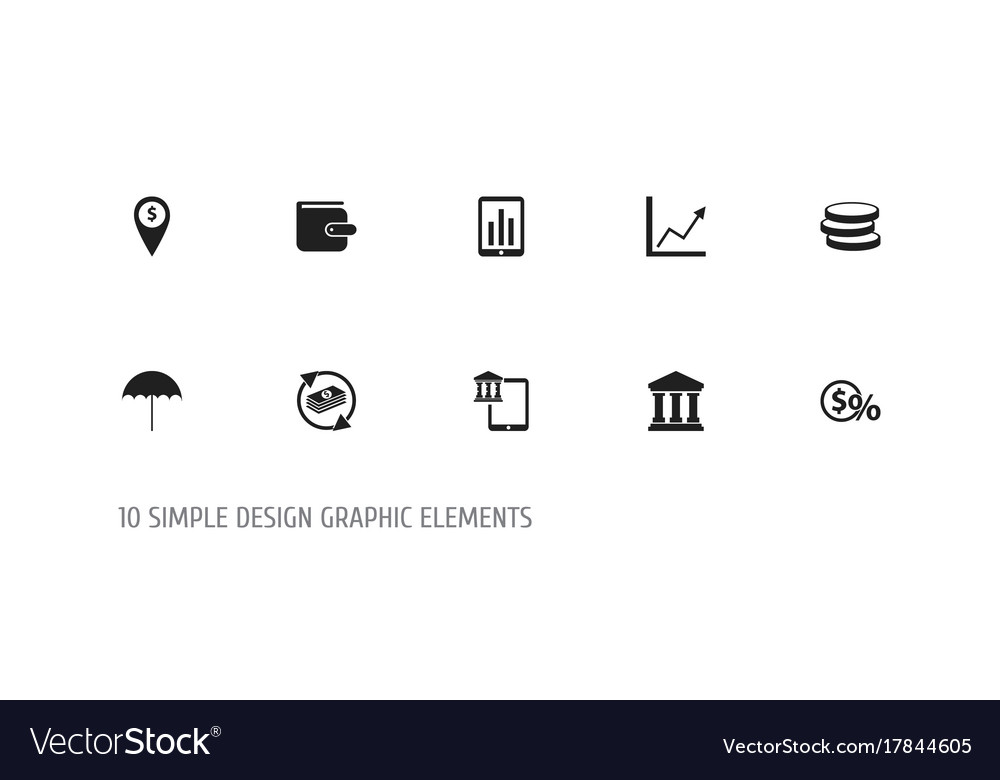 Set of 10 editable finance icons includes symbols