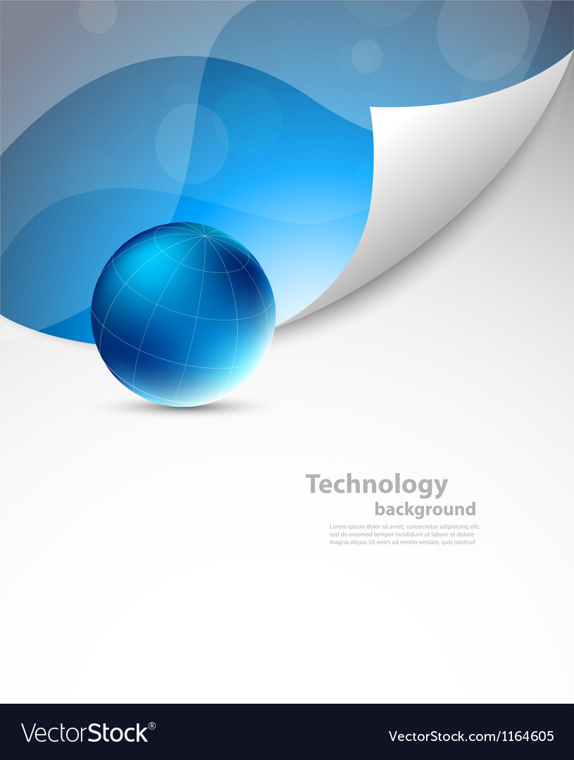 Tech background with sphere