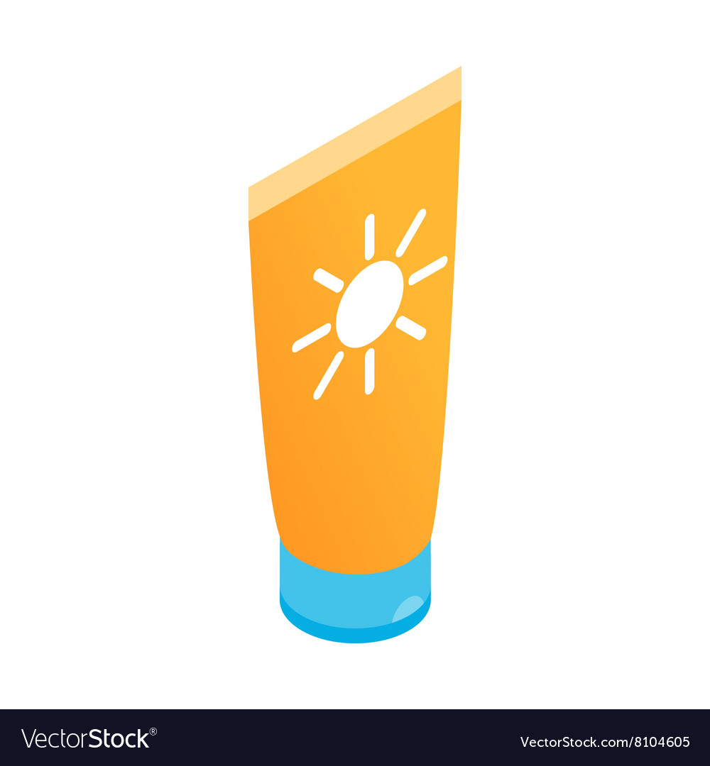 Tube with sunbathing cream icon