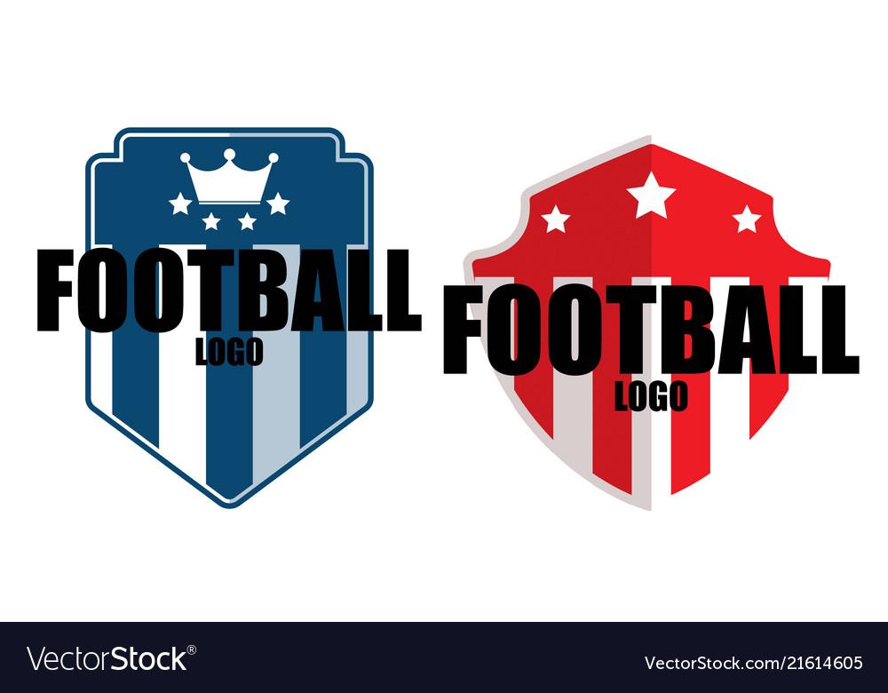Two types logo sport football academy club logo