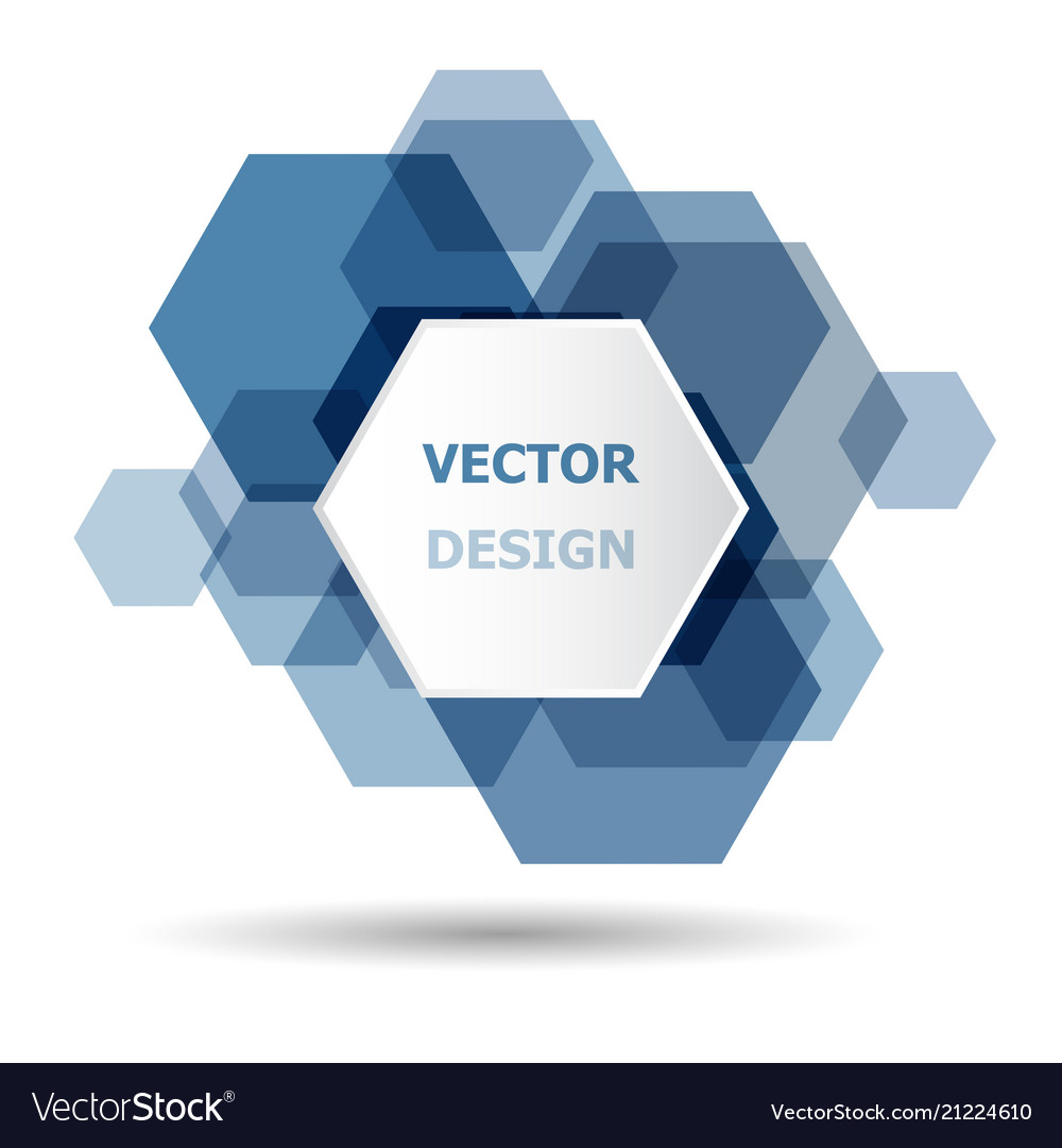 Abstract blue hexagon banner background template