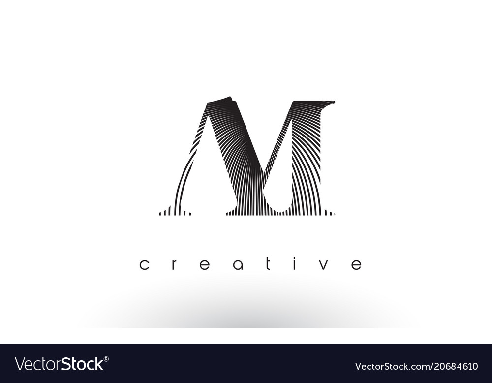 Am logo design with multiple lines and black and vector image
