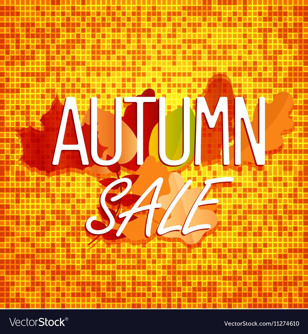 Autumn sale concept Color of autumn leaves