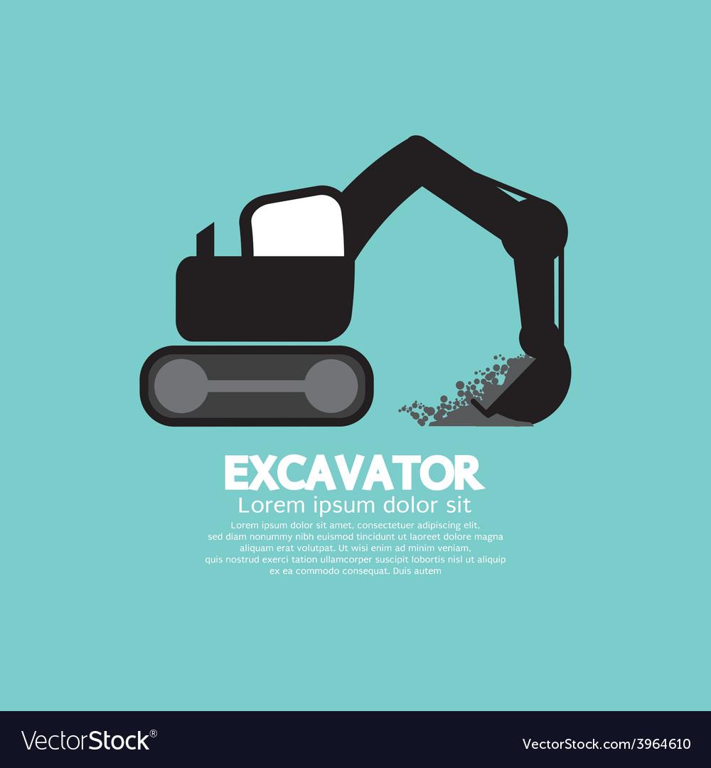 Excavator Black Graphic Symbol