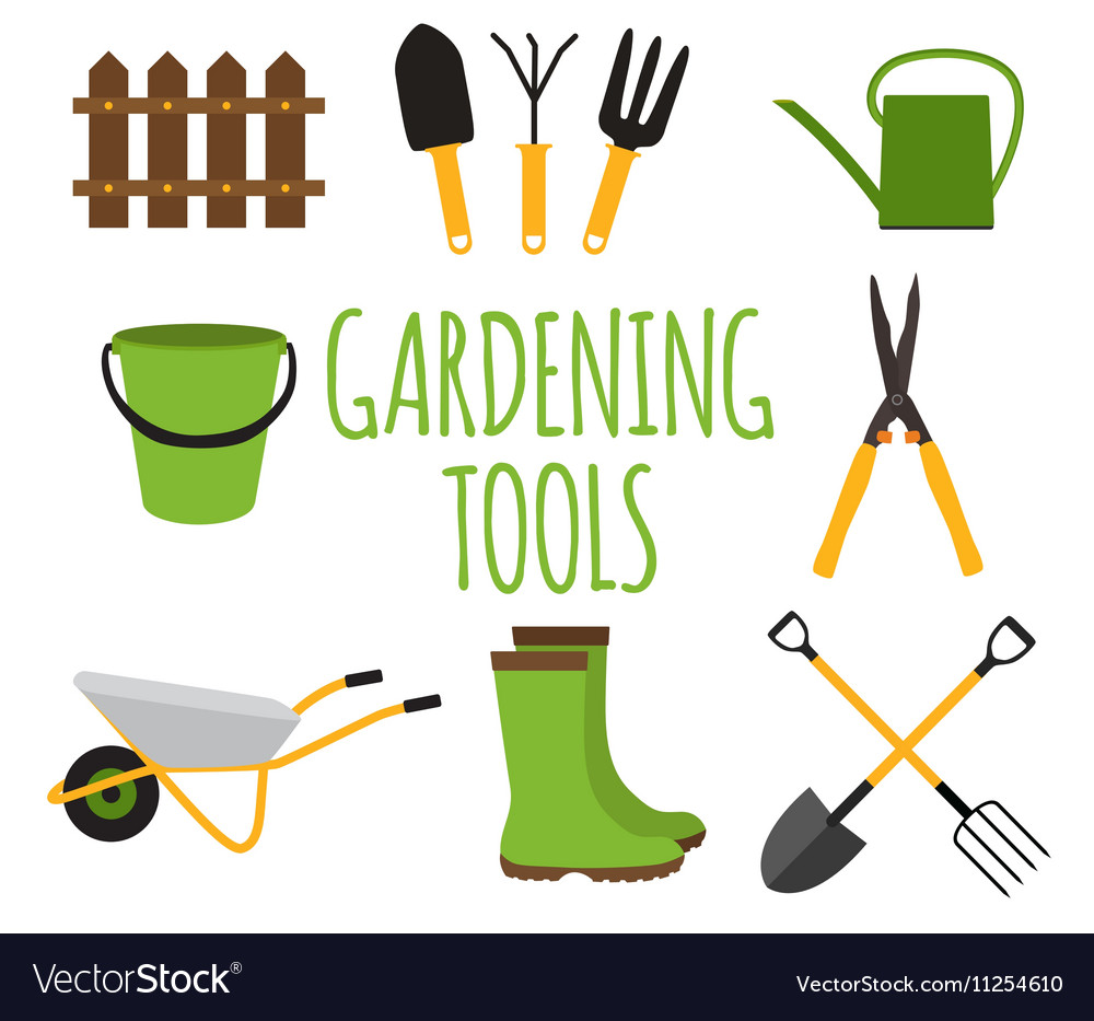 Gardening Tools Instruments Flat Icon Collection