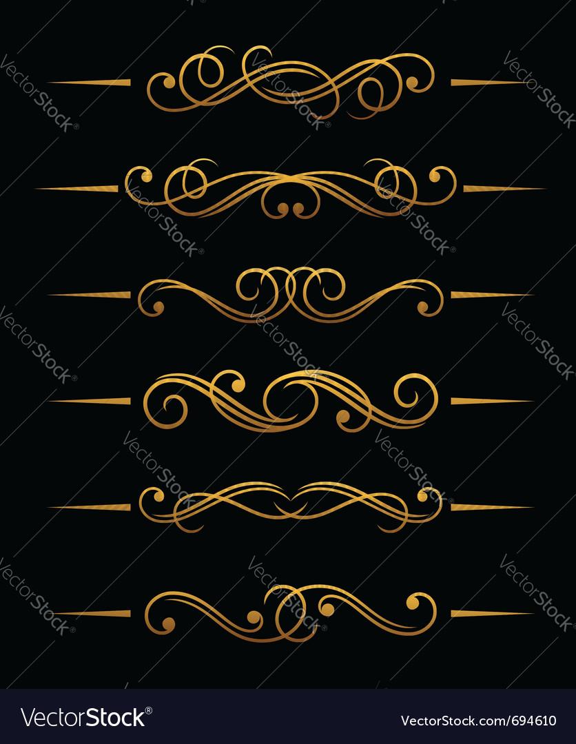Golden vintage divider