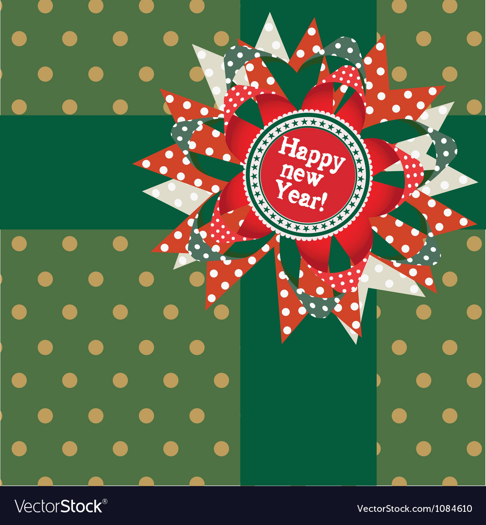 Happy New Year Post Card Royalty Free Vector Image
