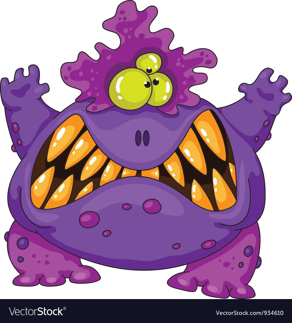 Terrible monster vector image