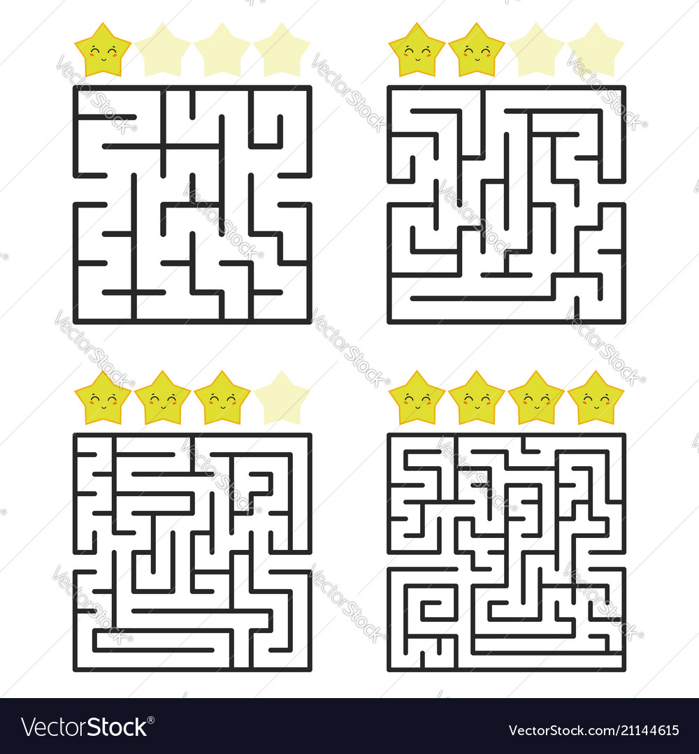A square labyrinth with an entrance and an exit a
