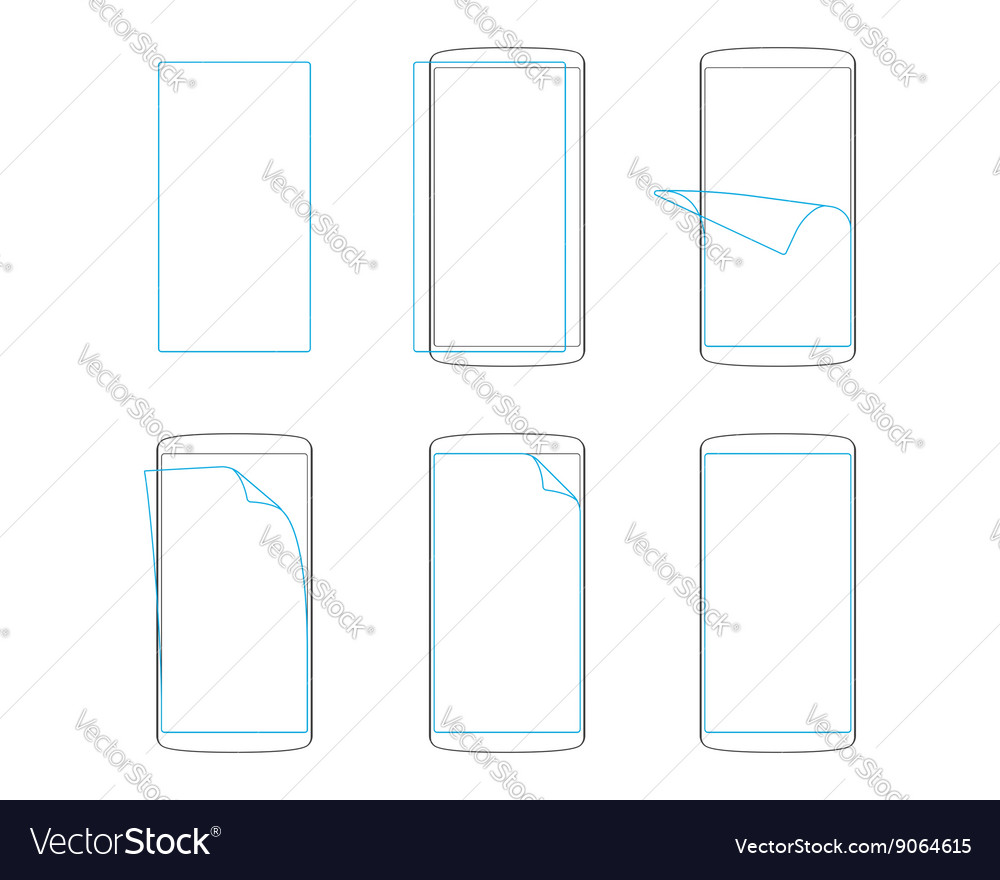 Apply screen protector smartphones and tables
